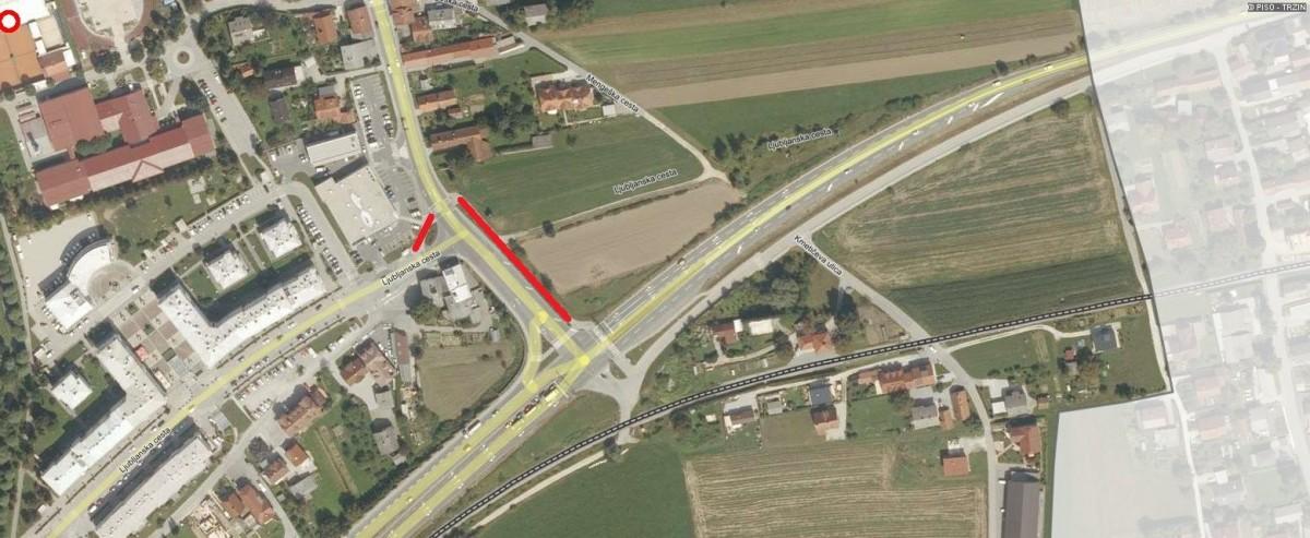Obvestilo o popolni zapori površin za pešce in kolesarje na Ljubljanski cesti, v dveh zaporednih dneh od dne 12. 2. 2020 do 26. 2. 2020