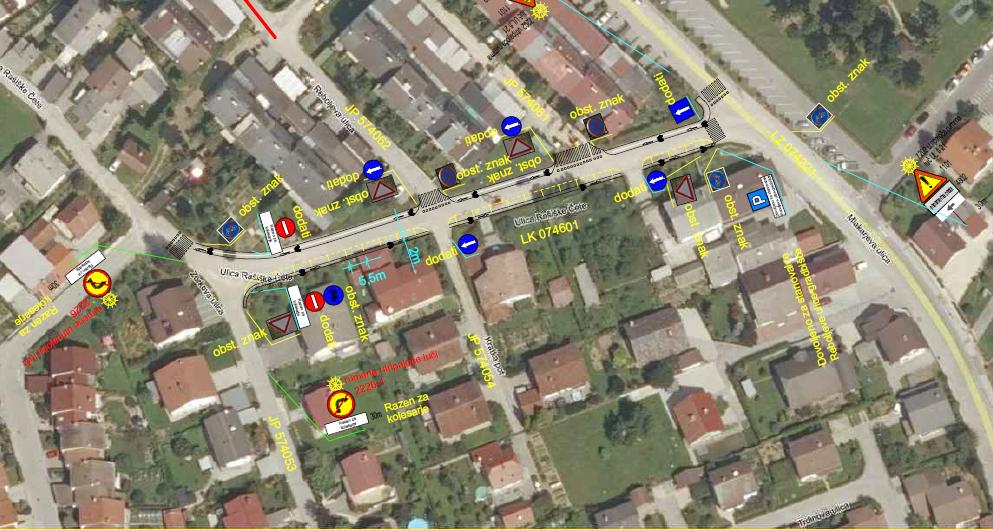 Spremenjen prometni režim na ulici Rašiške čete, od 17. 7. 2020 do okvirno 20. 9. 2020