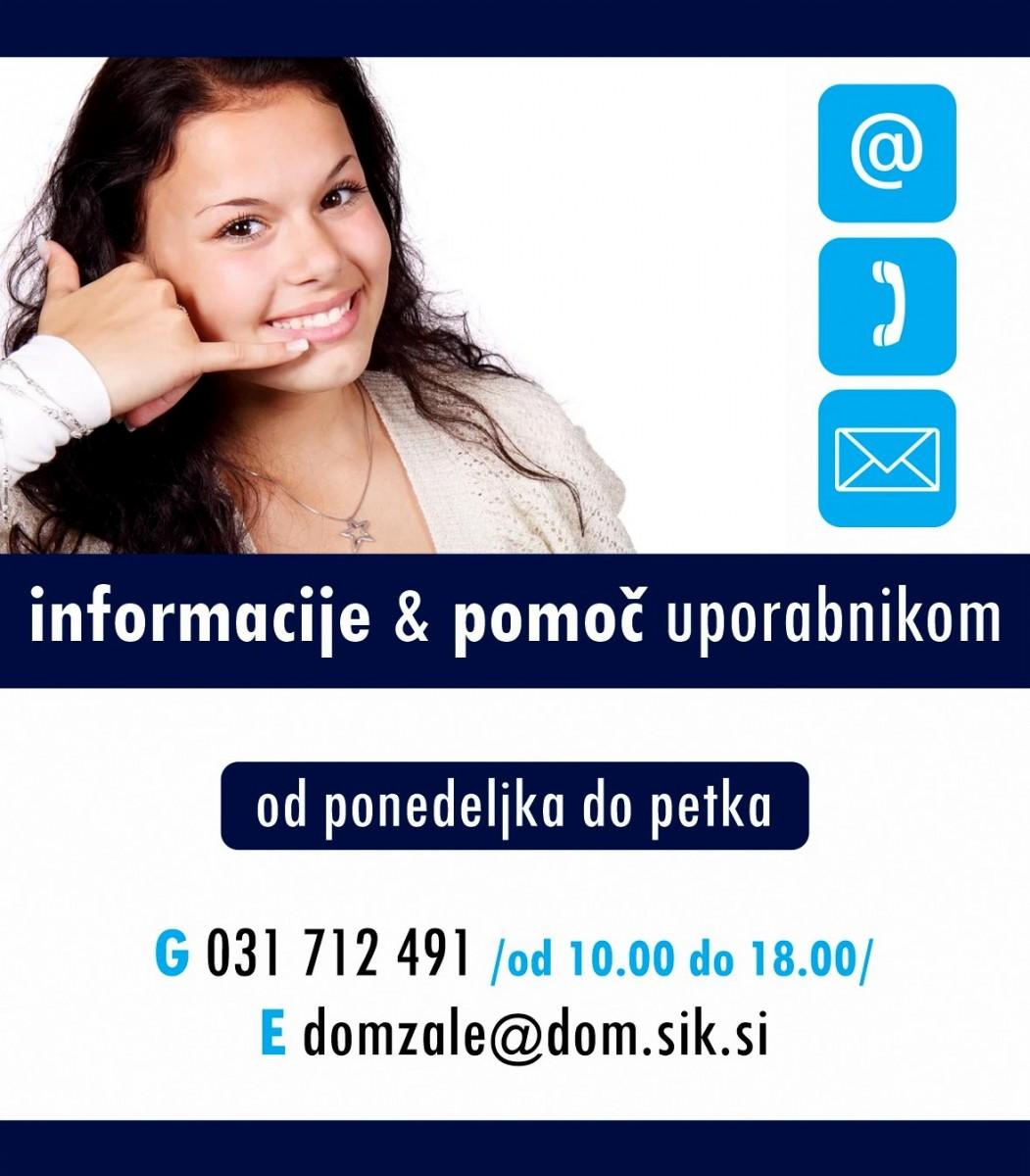Obvestilo Knjižnice Domžale  - Info podatki, E-Knjižnica, Audibook, Izposoja po pošti