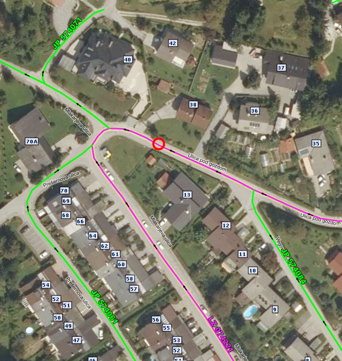 Popolna zapora lokalne ceste (ulica Pod gozdom) 2 dni v času od 1.8.2021 do 31.8.2021