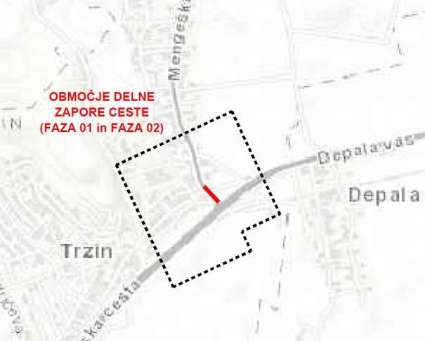 Zapora dela občinske ceste - Ljubljanska cesta v križišču z Mengeško cesto, od dne 17. 4. 2019 do dne 30. 5. 2019