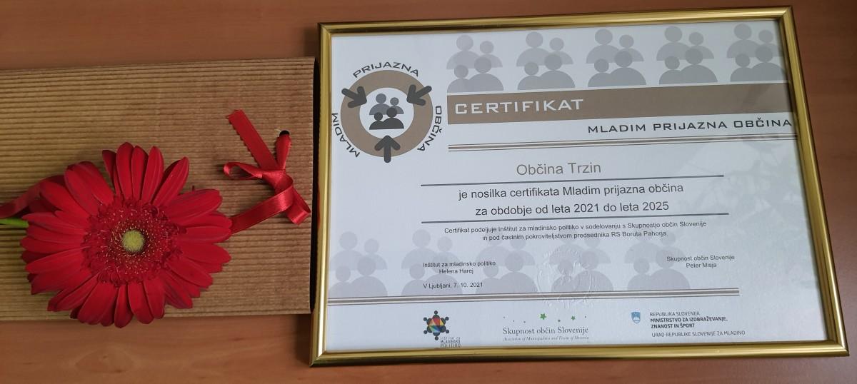 Podaljšanje veljavnosti certifikata Mladim prijazna občina