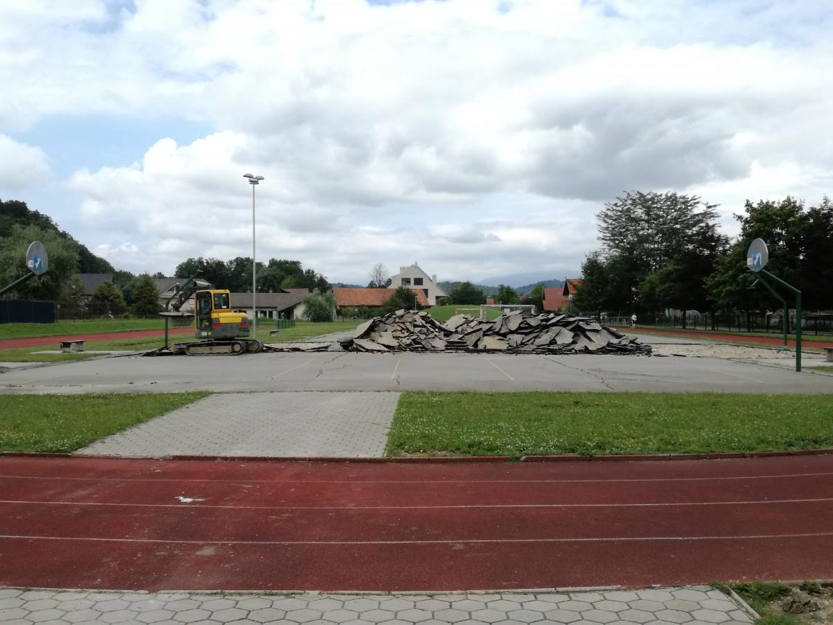 Obnova športnega igrišča pri osnovni šoli