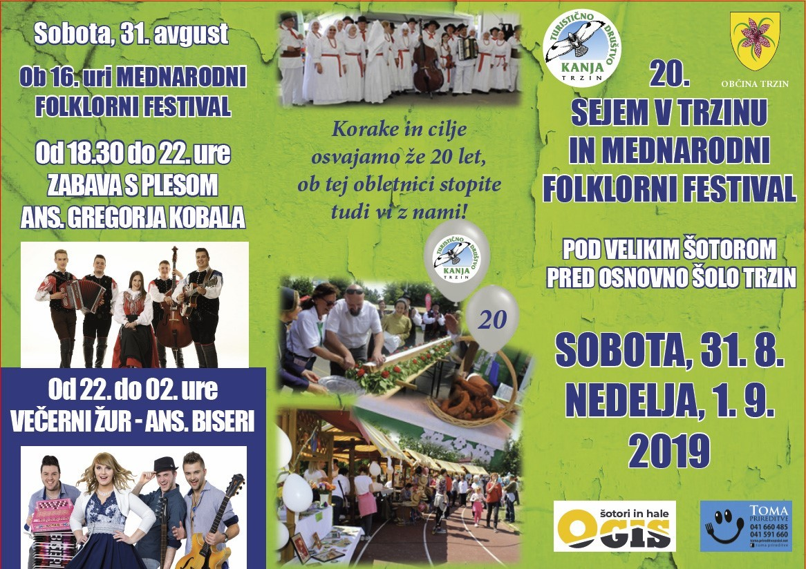 20. Sejem v Trzinu in 18. Mednarodni folklorni festival