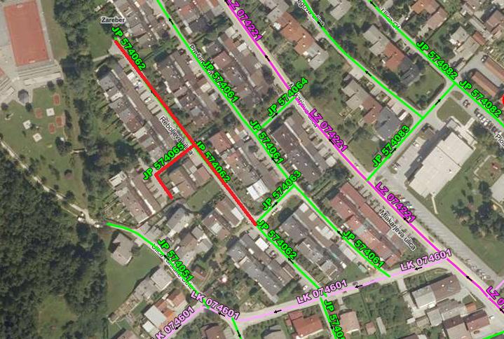 Popolna zapora javnih poti na Reboljevi ulici (med 1.7.2020 in 20.9.2020)